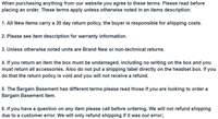 Terms and Conditions-READ BEFORE ORDERING