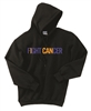 "Collin Cares Cure Cancer Adult ""FIGHT CANCER"" Black Hoodie"