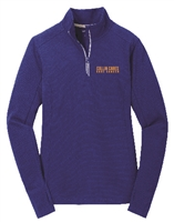 Collin Cares Cure Cancer Adult Ladies Royal Textured 1/4 Zip