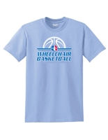 Carolina Blue Retro Wheelchair Basketball T-Shirt