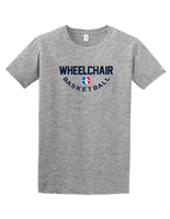 Ice Gray Classic Wheelchair Basketball T-Shirt