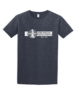 Heather Navy Distressed NWBA Logo T-Shirt