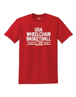 Red USA Wheelchair Basketball T-Shirt