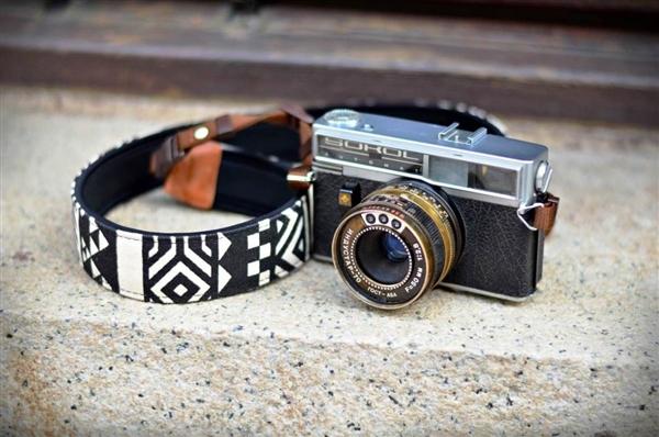 iMO Geometric Black Camera Strap - iMO Camera Strap