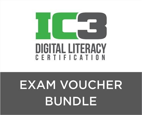 IC3 Digital Literacy Voucher + 3 Preparation Bundle - CCI Learning