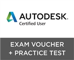 Autodesk Certified User Exam Voucher with Retake + GMetrix