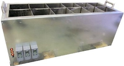 Fast, Energy efficient  12 chamber candle carving dipping tank.