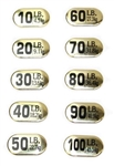 Gold Padded Aluminum Sticker Sets for Dumbbells