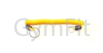 "Lanyard 12"" (30cm ) Long 1"" Key Rings Yellow (IFI)"