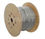 Gym Wire Cable 100m Roll. 7x19 Wire. 4mm Covered in Clear Nylon to 5mm