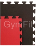 Black and Red 20mm Jigsaw Interlocking Mats 1m x 1m x 20mm
