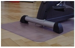 Fitness Equipment Floor Protection Mat 180 cm x 100 cm Clear