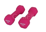 Commercial Pink 1kg Pink Dumbbell Pair Neoprene Coated