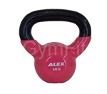 Commercial Pink 4KG Cast Iron Vinyl Coated Kettlebell