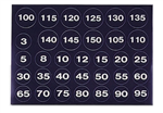 Weight Stack Decal White Numbers. Black Background