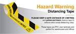 33mtr Tape Hazard Warning Distancing