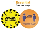 2mtr Distance Floor Sticker