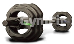 Rubber Studio Barbell Set  Rubber Covered 17kg