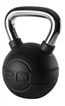 Black Rubber Coated Kettle Bell 18kg