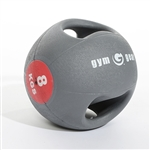 Double Grip Medicine Ball  10kg Orange  Colour Coded