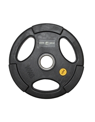 Olympic Disc Round Black Rubber  Grip Disc 10Kg