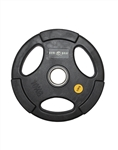 Olympic Disc Round Black Rubber  Gripd Disc 1.25kg