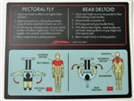 Placard Pec Fly Pro Series Life Fitness