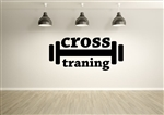 Cross Training Gym Decal