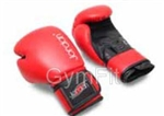 Boxing Training Glove Red/Black Leather 10oz or 12oz