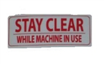 Life Fitness Decal Stay Clear Warning