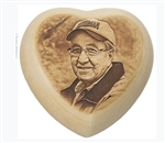 Wood Heart with Image