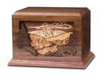 Mountain Scene Dimensional Urn - FS
