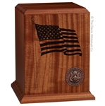 The Mahogany Flag Urn - NEW