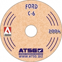 ATSG CDROM Manual for Ford C6 Transmission 1966-up