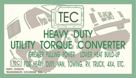 Heavy Duty Torque Converter for 1993-2003 Dodge V10 47RH/47RE (A618)  Transmission