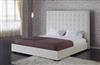 1155-K-WHT Delano Bed King - White