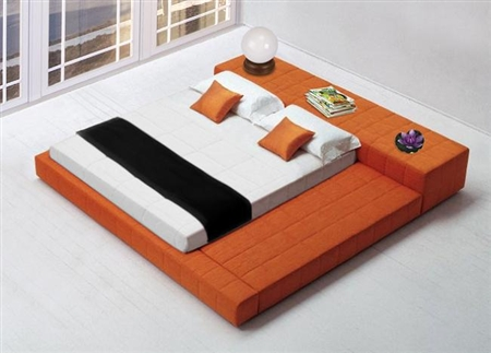 1335-K-ORG Cubix Bed, King Size, Orange
