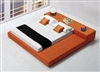 1335-Q-ORG Cubix Bed, Queen Size,  Orange