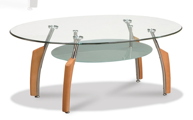 Gl Top Round Occasional Coffee Table