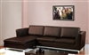 3570-LFC-BRN Monaco Sectional - Dark Brown