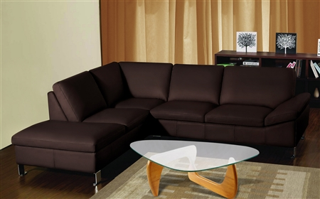 3630-LFC-BRN Chelsea Sectional - Dark Brown, LFC Chaise
