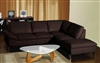 3630-RFC-BRN Chelsea Sectional - Dark Brown, RFC Chaise