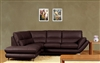 3740-LFC-BRN Ashton Sectional, Dark Brown, LF Chaise