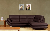 3740-RFC-BRN Ashton Sectional, Dark Brown, RF Chaise