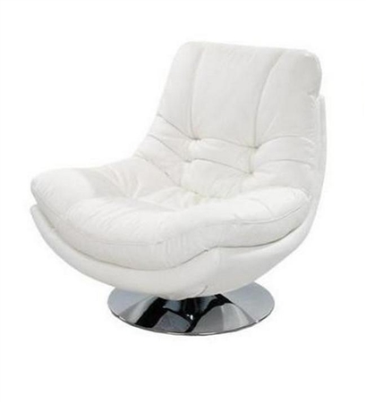 3850-1S-WHT Gramercy 1 Seater Swivel Chair - White