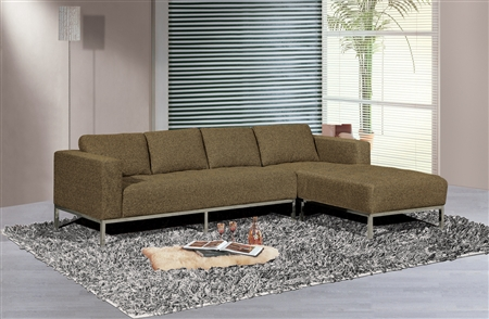 3920-RFC-GY Dresden Sectional Sofa, Right Facing Chaise, Grey