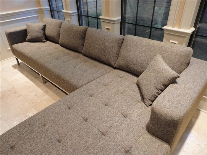 Pleasant Dresden Sectional Sofa Right Facing Chaise Grey Gmtry Best Dining Table And Chair Ideas Images Gmtryco