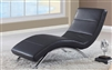Contemporary Curved Relax Chaise 820-BL
