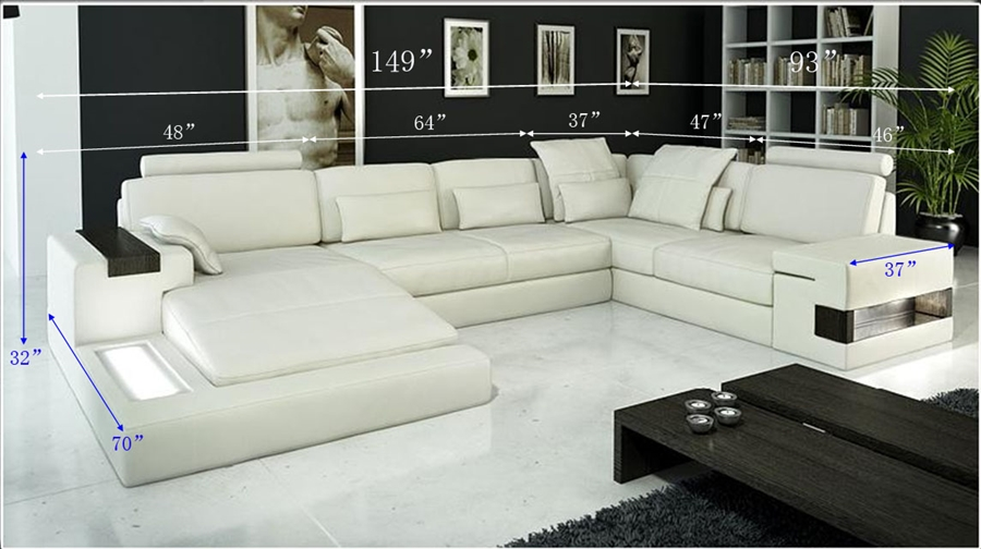 Italian Leather Sectional Sofa Cp 1692 Hl