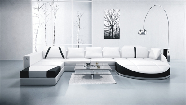 Ultra Contemporary Leather Sectional Sofa CP-2211 Luna